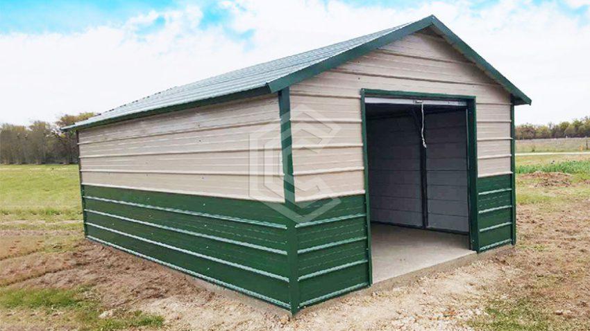 18x21x9 enclosed metal garage