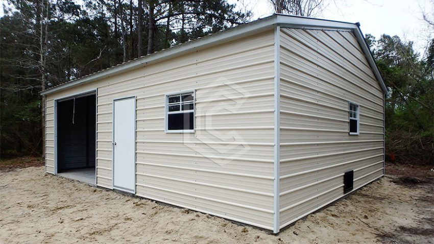 20x21x9 enclosed garage workshop