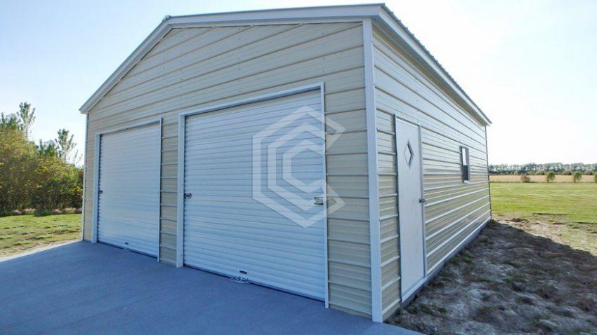 22x26x10 two car steel garage