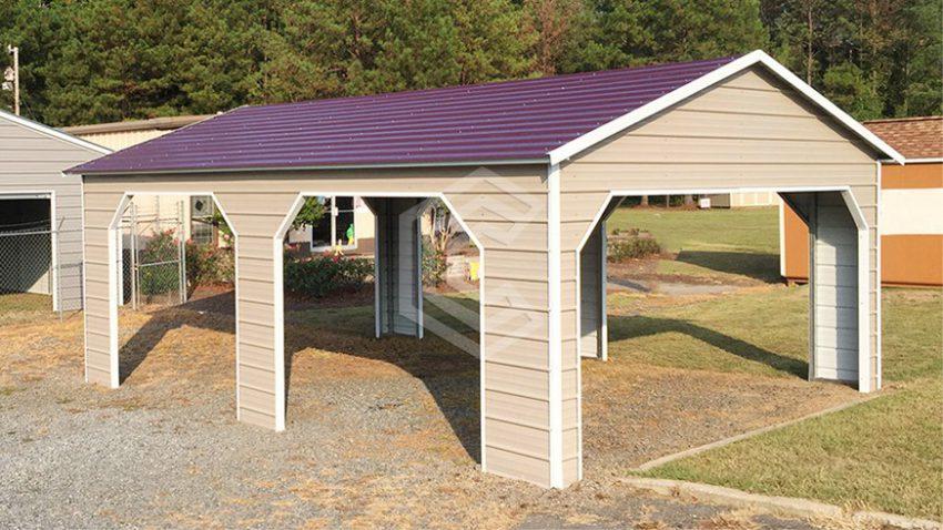 24x26x9 a frame steel carport