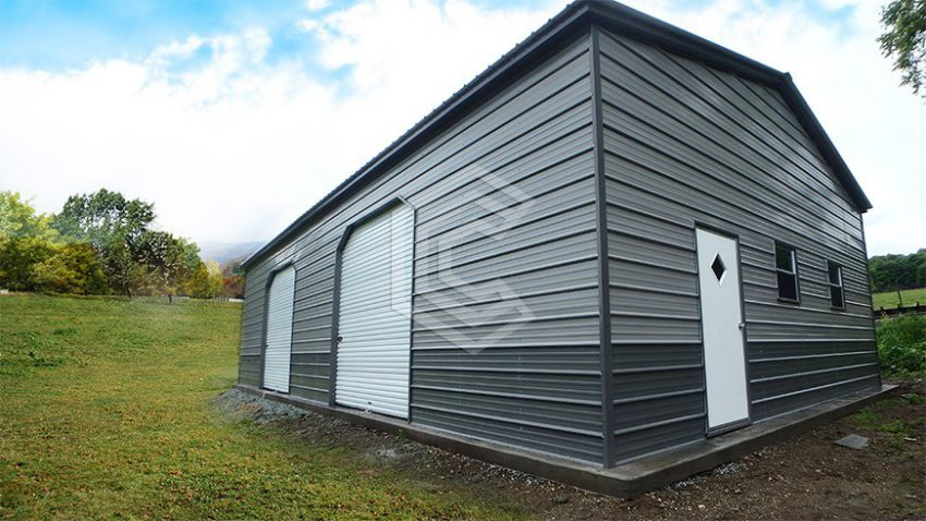 24x30x10 vertical roof garage workshop