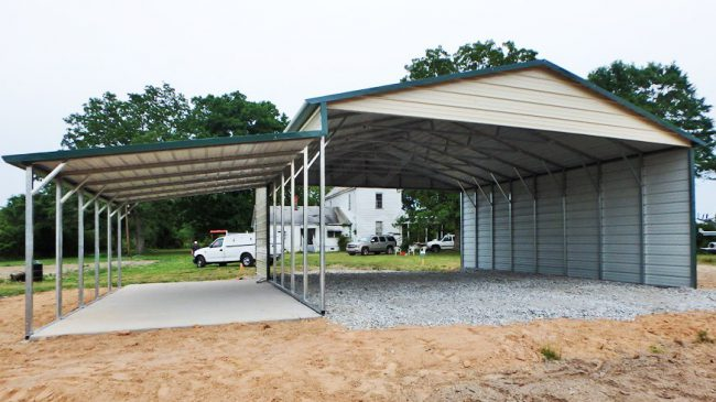 26x35x12-custom-steel-carport-with-lean-to