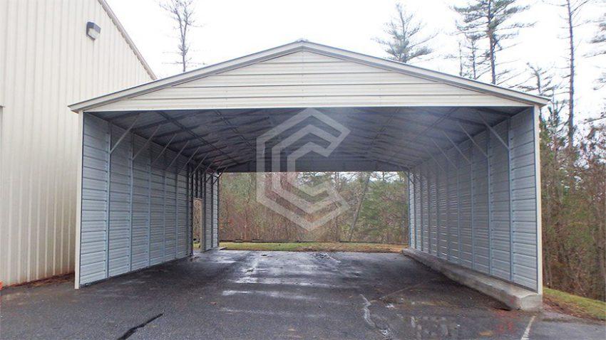 26x40x12 vertical roof carport