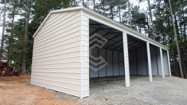 26x40x9-side-entry-custom-metal-carport-side-view