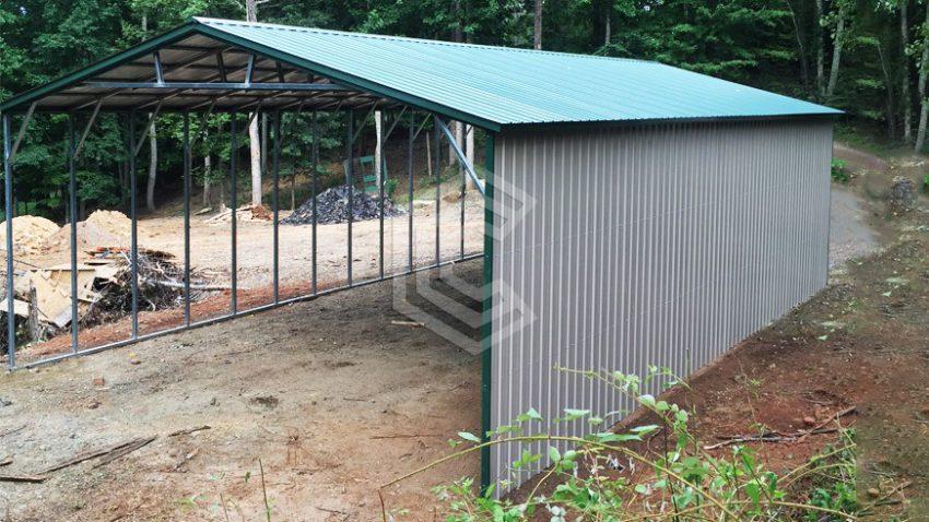26x45x12 all vertical steel carport