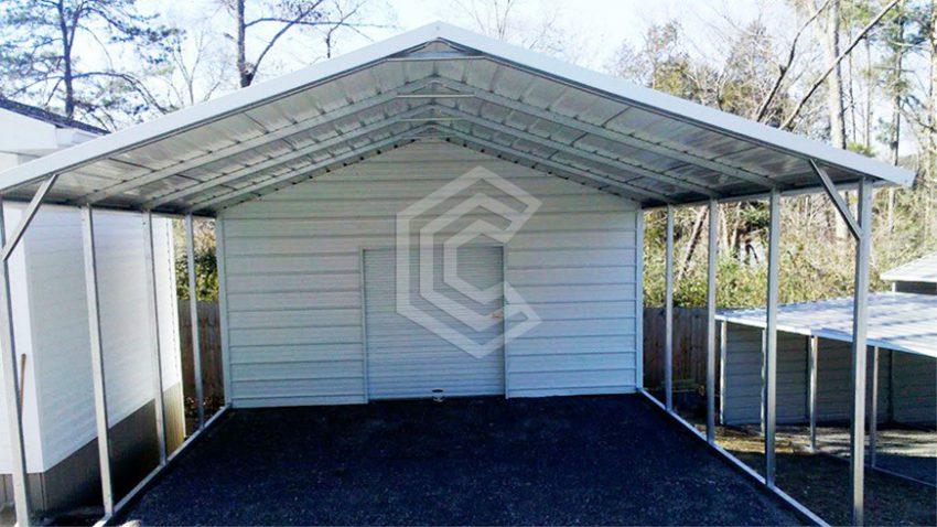 18x26x8 boxed eave utility metal carport