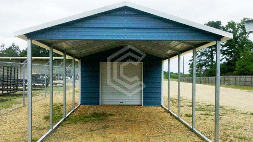 18x31x8 utility steel carport