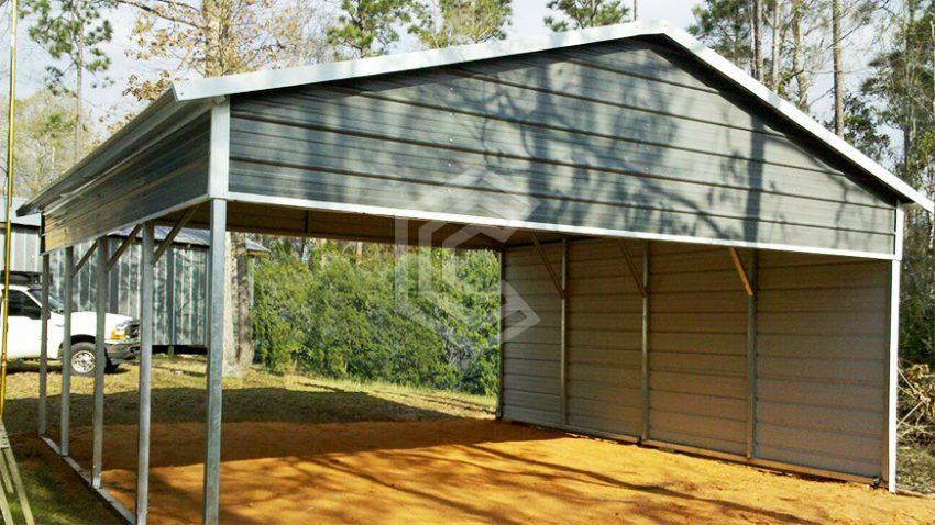 20x21x8 extended gable metal carport