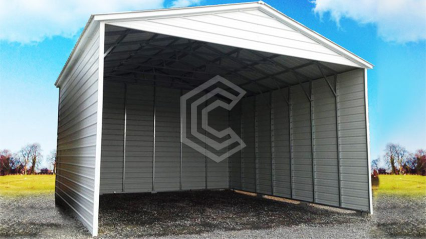 26x31x10 triple wide vertical roof metal carport