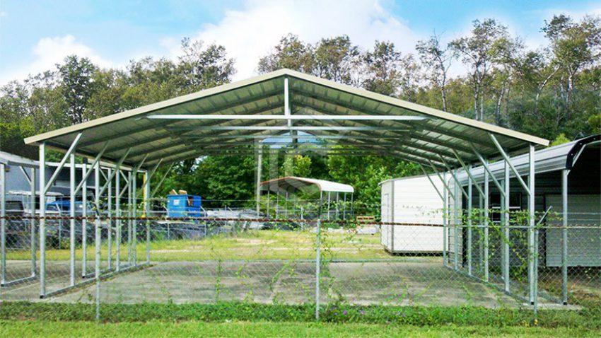 28x26x8 a frame steel carport