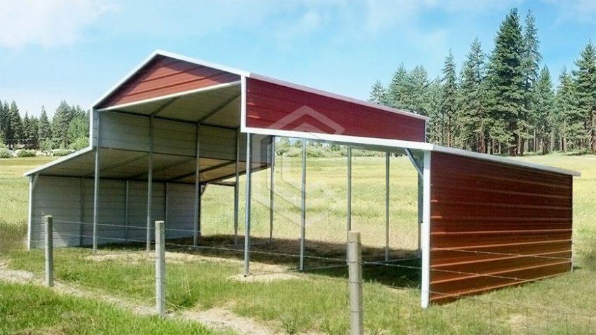 36x21x12 carolina metal barn