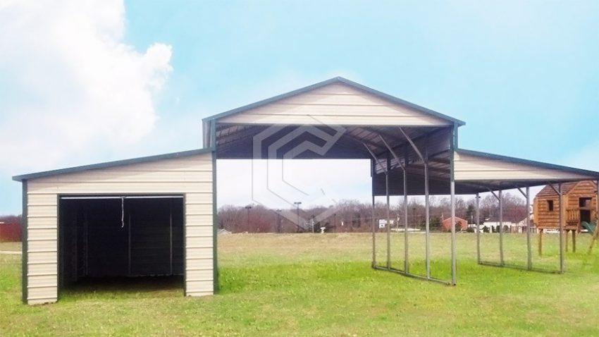 36x21x12 center raised metal barn