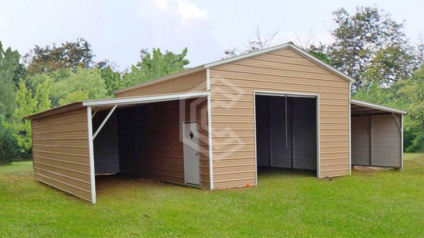 42x21x10 carolina metal barn