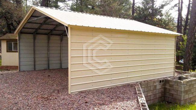 20X21X7 Vertical Roof Steel Carport