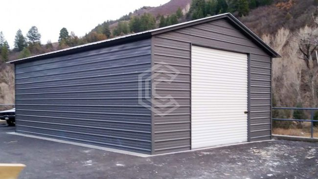 20x31x10 Vertical Roof Exnclosed Garage