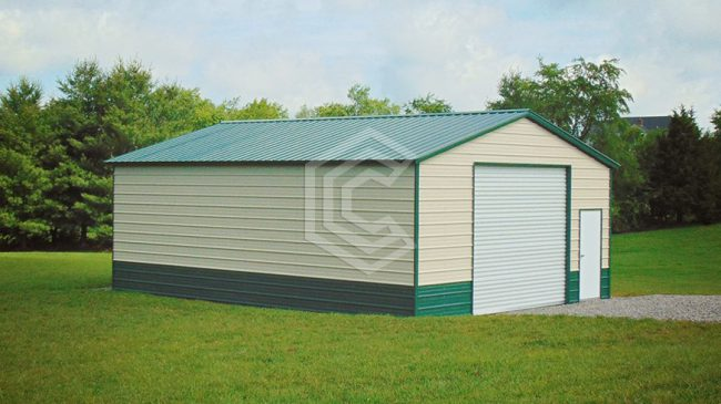 24x31x10 Vertical Roof Garage Workshop