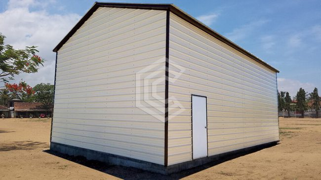24x41x15 Garage Workshop with Vertical Roof