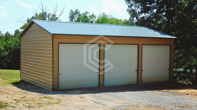 26x36x12 Enclosed Side Entry Garage