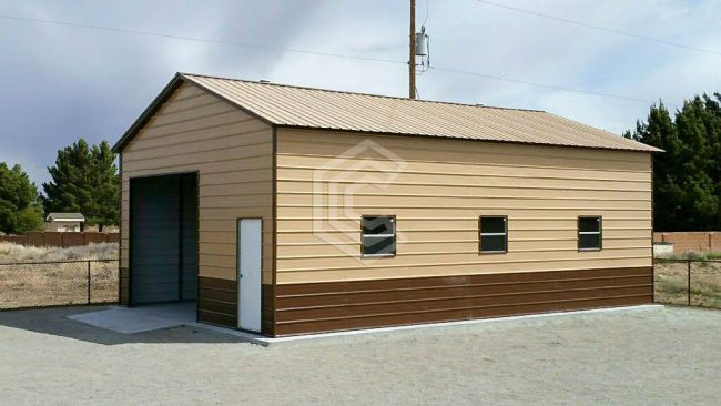 26x36x12 One Car Steel Garage