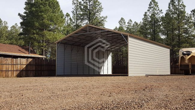 30x41x12 Vertical Roof Steel Garage