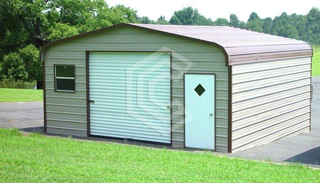 18x21x8 Standard Metal Garage