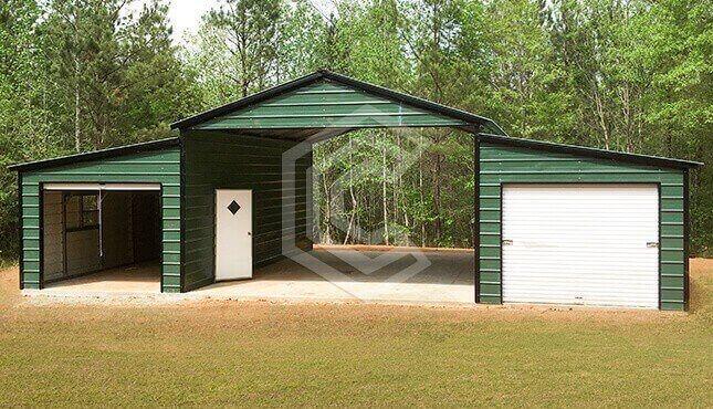 20x30x11 Raised Center Aisle Barn on