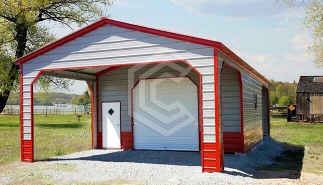 20x30x11 Utility Metal Carport