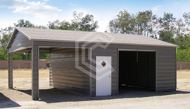 20x31x10 Side Entry Metal Garage