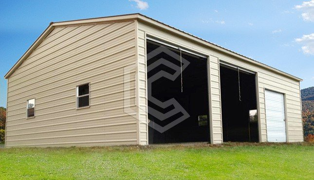 20x31x10 Vertical Roof Side Entry Garage