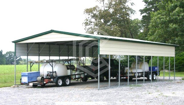 20x41x10 Vertical Roof Metal Carport