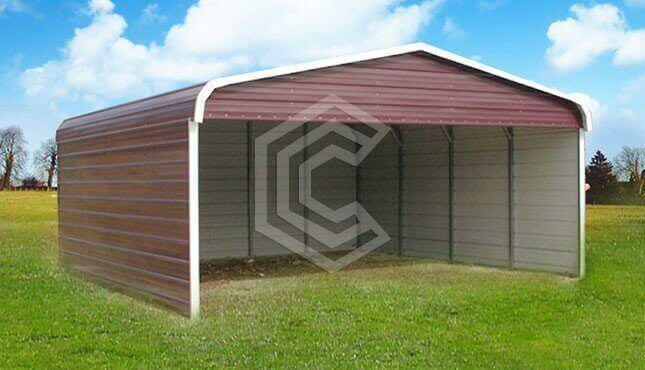22x21x7 Steel Carport