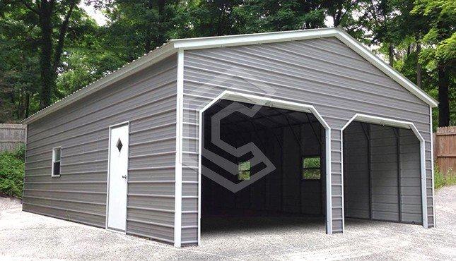 22x26x10 Vertical Roof Garage
