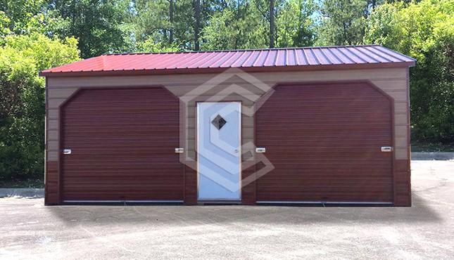 22x26x9 Side Entry Metal Garage