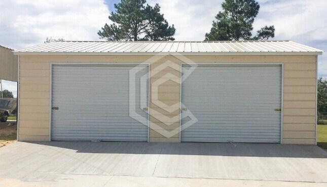 24x26x10 Two Car Side Entry Garage