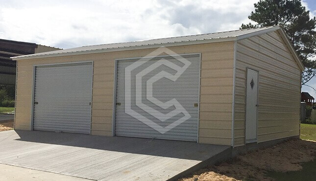 24x26x10 Two Car Side Entry Garage