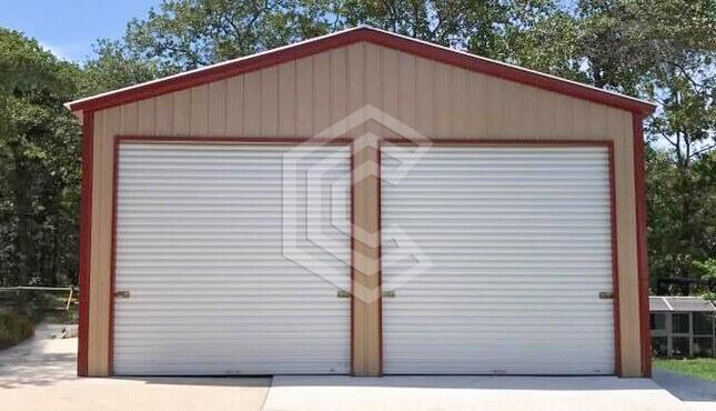 24x36x11 Enclosed Metal Garage
