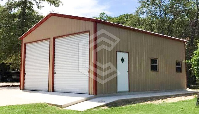 24x36x11 Enclosed Metal Garage