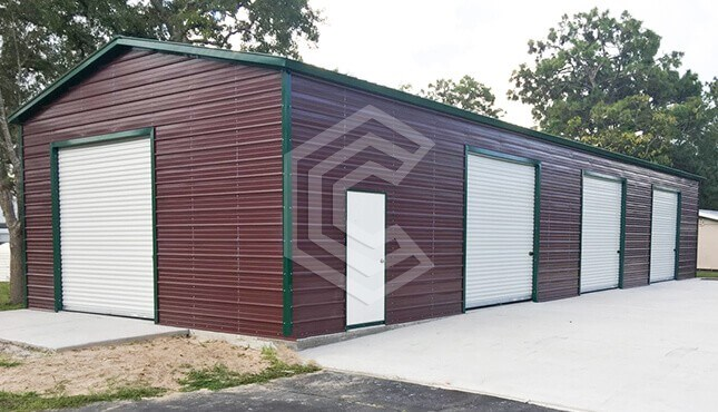 24x50x13 Vertical Roof Side Entry Garage
