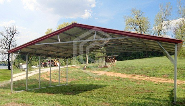 26x21x6 Triple Wide Metal Carport