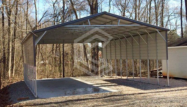 26x41x12  Triple Wide Metal Carport