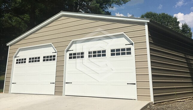 30x26x9 Vertical Metal Garage