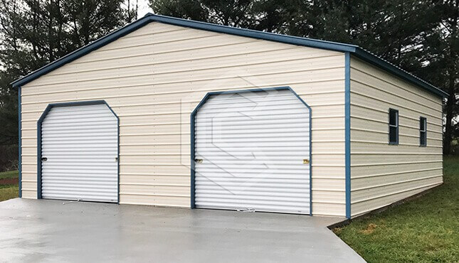 30x30x10 Vertical Roof Metal Garage