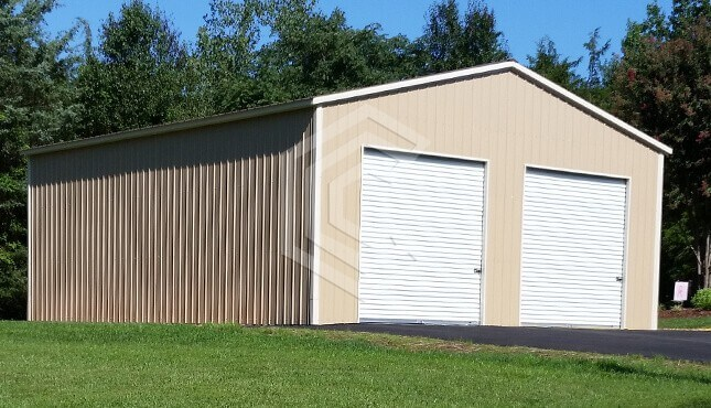 30x36x12 Vertical Roof Enclosed Garage