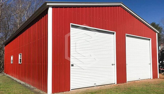 30x40x12 Metal Garage Workshop