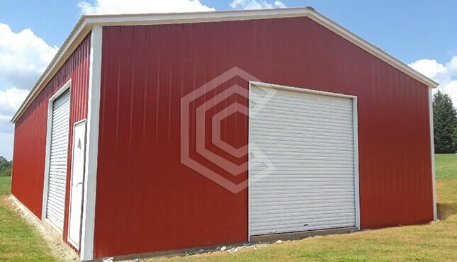 30x60x12 Vertical Roof Garage