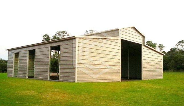 36x36x12 Carolina Metal Barn
