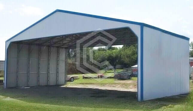 40x30x12 Clear Span Commercial Carport