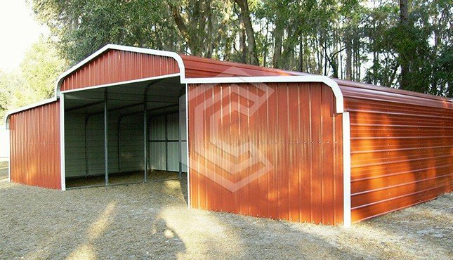 42x12x9 Regular Metal Horse Barn