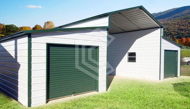 42x21x12 Raised Center Aisle Metal Barn