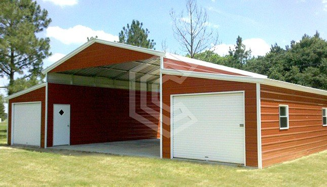 42x31x11 Vertical Roof Raised Center Aisle Barn